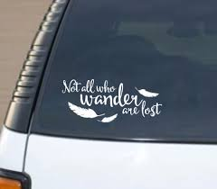 Not All Who Wander Are Lost Word Factory Design