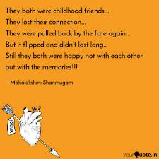 they both were childhood quotes writings by mahima ben