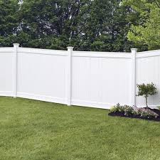 Freedom Ready To Assemble Emblem 6 Ft H X 8 Ft W White Vinyl Flat Top Fence Panel In The Vinyl Fence Panels Department At Lowes Com