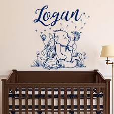 Winnie The Pooh Wall Decal Personalized Boy Name Art Vinyl Sticker For Kids Room Decoration Mural Nursery Bedroom Decor W545 Buy At The Price Of 6 80 In Aliexpress Com Imall Com