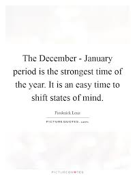 the period is the strongest time of the year