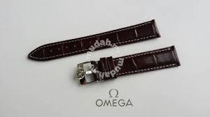 white genuine leather watch strap