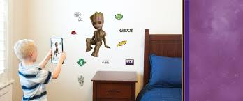 Groot Wall Decals Augmented Reality Sticker Wall Palz