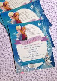 Frozen Theme Flat Print Invitation Cumple