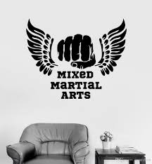 Modern Sports Room Vinyl Wall Decal Mixed Martial Arts Mma Quotes Fight Fighter Stickers Living Room Home Decor Wallpapers Wall Decals Removable Wall Decals Sale From Joystickers 13 48 Dhgate Com