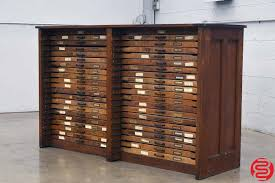 hamilton letterpress type cabinet