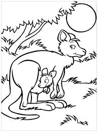Tranh tô màu hai mẹ con kangaroos 5 - download