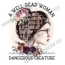 A Well Read Woman Book Girl Waterslide Decals Laser Printed Laser Made By Momma Waterslides