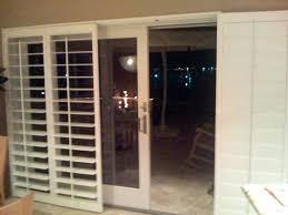 long sliding glass door shutters