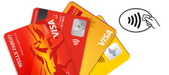 debit and credit cards just tap