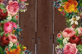 Fence With Flower Border Free Stock Photo Public Domain Pictures