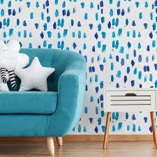 Wallpops Blue Raindrops Wall Decal Dwpk3582 The Home Depot