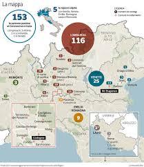 Coronavirus, la mappa in Italia contagi raddoppiati in 24 ore ...