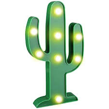 Amazon Com Yiamia Led Cactus Light Cute Night Table Lamp Light For Kids Room Bedroom Gift Party Home Decorations Green Home Kitchen