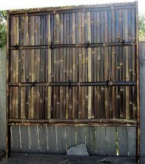 Black Bamboo Fence Panel