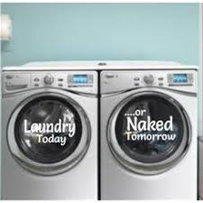 Laundry Room Decorative Washer Dryer Magnetic Decal
