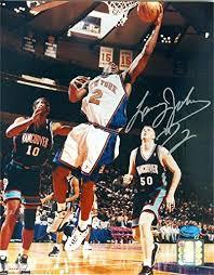 Larry Johnson autographed 8x10 Photo (New York Knicks 2x All Star ...