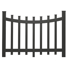 Barrette 38 In X 47 In Black Vinyl Fence Panel At Lowes Com