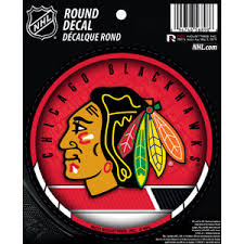 Chicago Blackhawks Round Sticker At Sticker Shoppe