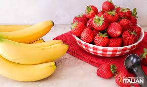 Strawberry Banana Ice Cream (2-Ingredients) + Video
