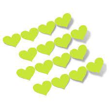 Chartreuse Hearts Vinyl Wall Decals Shapes Patterns Decalvenue Com Decal Venue