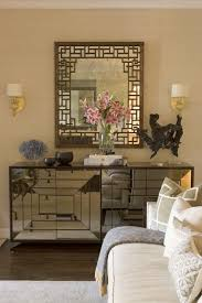 mirrored cabinet eclectic living