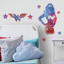Room Mates Wonder Woman Watercolor Peel And Stick Giant Wall Decal Wayfair