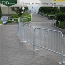 Hot Dip Galvanized Crowd Barriers For Sale 43 High 1 5in Tube