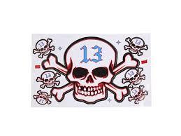 Universal White 7 Skull Head Pattern Self Adhesive Sticker For Auto Car Decal Newegg Com