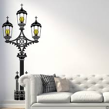 Westminster Bridge Gas Lamp Wall Decal With Edison Bulbs