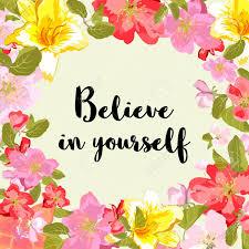 believe in yourself motivational quote typography art black
