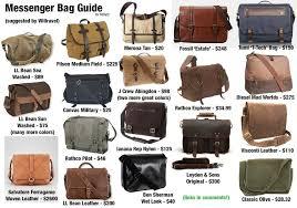messenger bag visual guide links in