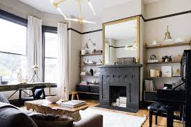 black glossy fireplace painted ideas