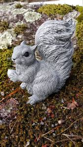 gray squirrel garden statue