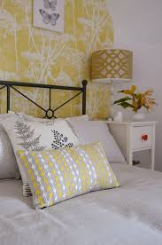 a yellow cow parsley attic bedroom