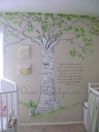 Classic Pooh Wall Art Dad Could Probably Paint Something Like This Eventually Baby Nursery Murals Winnie The Pooh Nursery Tree Mural Nursery