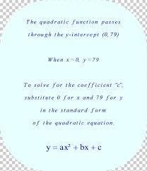 quadratic function quadratic equation y