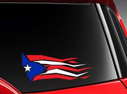 Puerto Rico Puerto Rican Flag Design Vinyl Car Decal Sticker Etsy