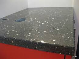 black concrete counter top with 100