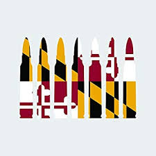 Amazon Com Maryland Flag Bullet Ammo Sticker Self Adhesive Vinyl Decal Fa Graphix Md 223 5 56mm 2a 2nd Gun Rights 5 00 Wide Automotive