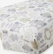 Levtex Home Baby Night Owl Collection Print Fitted Crib Sheet Taupe Grey 19 99 Picclick