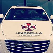 Resident Evil Zombie Umbrella Corporation Engine Hood Cover Car Stickers Decal Ebay