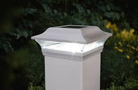 White Aluminum Solar Post Cap 15 Lumes 3x Brighter Than Leds