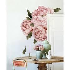 Shop Pink Peonies Bouquet Flower Wall Decal Overstock 30920387