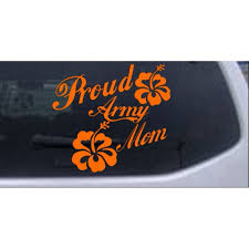 Proud Army Mom Hibiscus Flowers Car Or Truck Window Decal Sticker Walmart Com Walmart Com