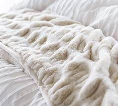 faux fur ruched throw blankets