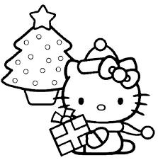 Kleurplaat Kerst Kerstmis Kleurplaten Kleurplaten En Hello Kitty