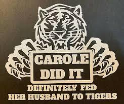 Joe Exotic Tiger King Sticker Netflix Carole Did It Tiger Vinyl Car Decal Ebay