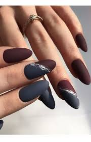 grey vs burgundy nails