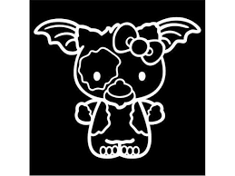Hello Kitty Gremlins Geezmo 4 Tall Decal Sticker For Cars Laptops Tablets Skateboard White Newegg Com